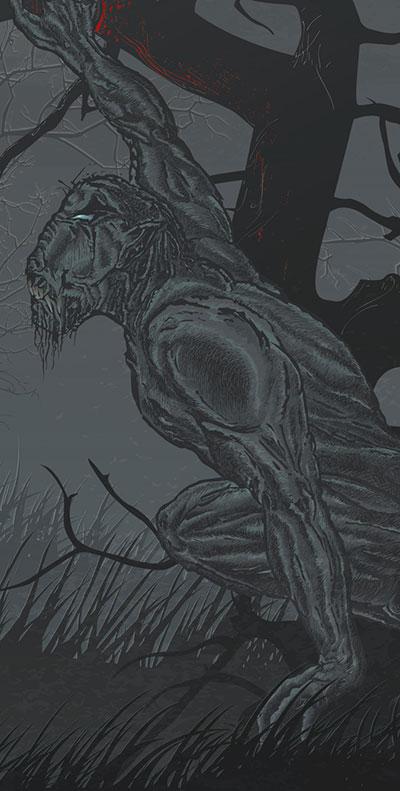 Hunting season.www.nikkeystudio.com_heavy metal artwork_album cover_art for bands_wolverine_werewolf_lycan_Lycanthrope_Sub2