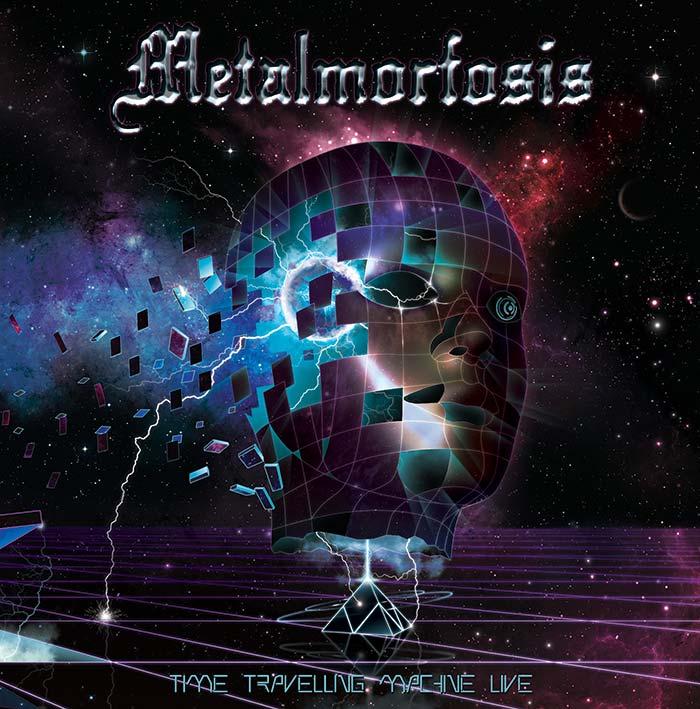 Metalmorfosis-Time-travelling-machine-live_www.nikkeystudio.com_heavy metal artwork_album cover_art for bands_new retro wave_80's art_retro design_scifi art_Portfolio Page Header Image