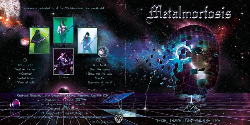 Metalmorfosis-Time-travelling-machine-live_www.nikkeystudio.com_heavy metal artwork_album cover_art for bands_new retro wave_80's art_retro design_scifi art_Sub1